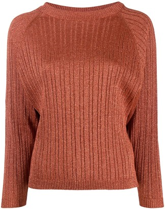 Alysi glitter detail ribbed knit jumper