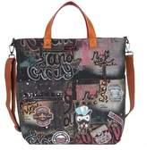 Nicole Lee Women's Ibtihaj Patched Graffiti Denim Tote Bag