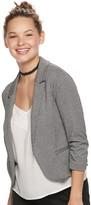 Candies Juniors' Candie's Ruched Sleeve Knit Blazer