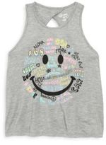 Flowers by Zoe Little Girl's Smiley Printed Tank Top