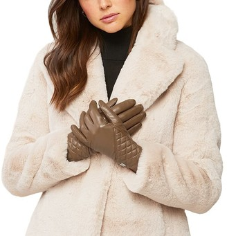 Soia & Kyo Claudean Leather Gloves - Camel Large