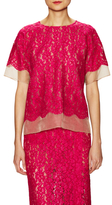 Tracy Reese Lace & Mesh Top
