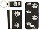Dolce & Gabbana bee & crown iPhone 6 case, cardholder and keyring set - men - Leather/PVC - One Size