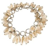 Stephen Dweck Sterling Silver Faceted Rutilated Quartz Necklace