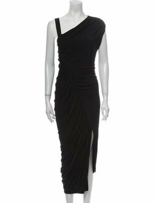 Jason Wu Asymmetrical Long Dress Black