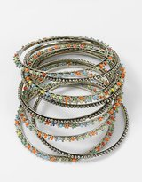 R. J. graziano Set of 12 Beaded & Studded Bangle Bracelets