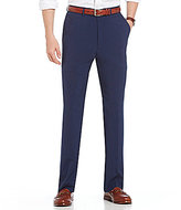 Roundtree & Yorke Big & Tall Flat-Front Travel Smart Non-Iron Basketweave Dress Pants