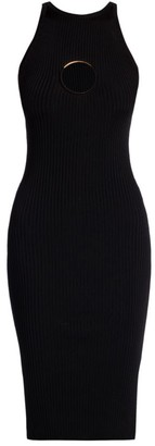 Versace Keyhole Knit Sheath Dress