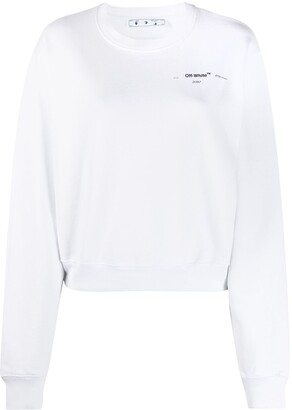 Off-White Puzzle Arrow cropped sweatshirt