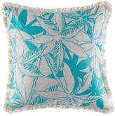 Kas Mangrove Teal Square Cushion Cover