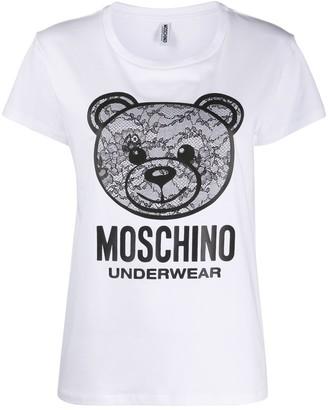 Moschino lace bear pyjama T-shirt