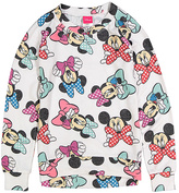 Jerry Leigh Minnie Mouse White & Blue Bow Pullover - Girls