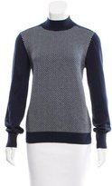 Tory Sport Patterned Knit Mock Neck Sweater
