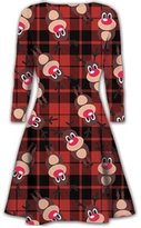 Mymixtrends® Kids Swing Dress Girls Christmas Xmas Flared Santa Reindeer Rudolph Dress