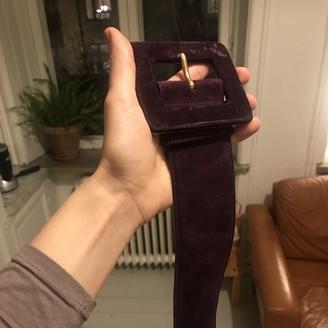Saint Laurent Purple Suede Belts