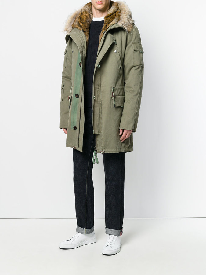 Yves Salomon fur-lined hooded parka