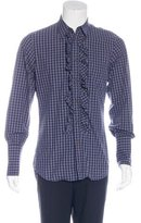 Vivienne Westwood Gingham Ruffle Shirt