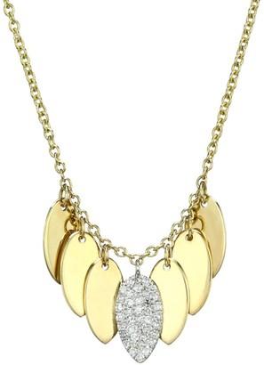 Meira T 14K Yellow Gold & Pave Diamond Teardrop Disc Necklace