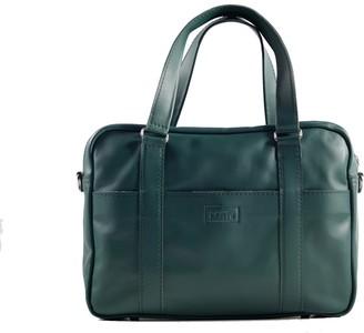 "Kartu Studio ""Sage"" Natural Leather Smart Briefcase For Men - Dark Green"