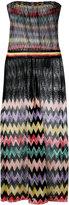 Missoni sheer panel zig zag dress - women - Rayon - 42