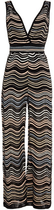 M Missoni Metallic Crochet-knit Wide-leg Jumpsuit