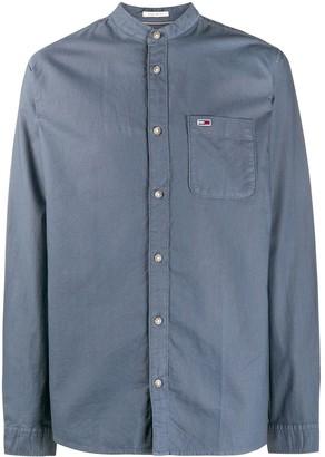 Tommy Hilfiger Band-Collar Logo Shirt