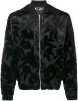 McQ by Alexander McQueen multi-layer floral bomber jacket - men - Silk/Polyester/Spandex/Elastane/Viscose - 46
