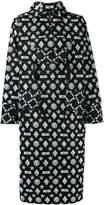 Kokon To Zai long printed hooded sweatshirt