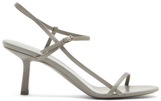 The Row Grey Bare Heeled Sandals