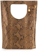 Tom Ford Alix Python Fold-Over Tote Bag