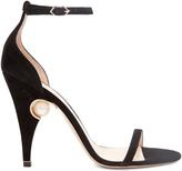 Nicholas Kirkwood Penelope pearl-embellished suede sandals