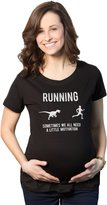 Crazy Dog T-shirts Crazy Dog Tshirts Maternity Running We All Need a Little Motivation Funny Pregnancy T Shirt M