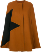 MSGM star print cape - women - Polyamide/Viscose/Wool - 38