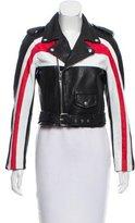 Maje Belted Leather Jacket