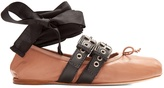 Miu Miu Buckle-fastening leather ballet flats