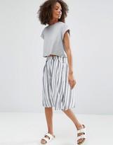 Glamorous Striped A Line Skirt