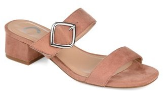 Brinley Co. Womens Classic Double Strap Slide