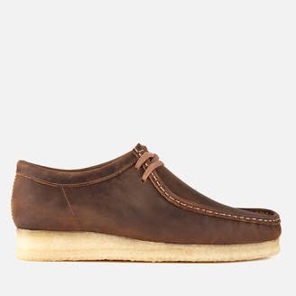 Clarks Men's Wallabee Leather Shoes - Beeswax