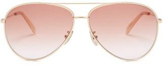 Celine Aviator Metal Sunglasses - Pink Gold