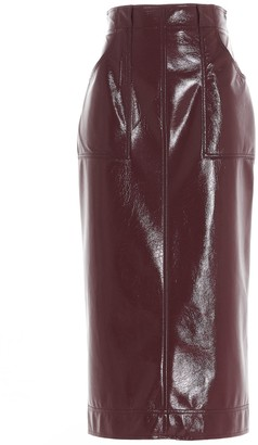Philosophy di Lorenzo Serafini Faux-Leather Pencil Skirt