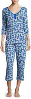 Asstd National Brand Warm Milk by Bedhead 3/4-Sleeve Top and Capris Pajama Set