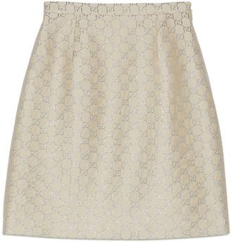 Gucci Light GG lame mini skirt
