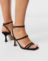 Asos Design DESIGN Hailee mid-heeled sandals in black