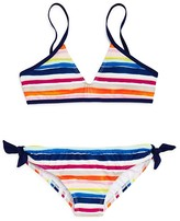 Splendid Girls' Watercolor Stripe 2-Piece Swimsuit - Big Kid