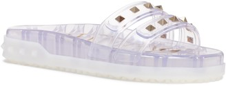 Valentino Garavani Rockstud Clear Slide Sandal