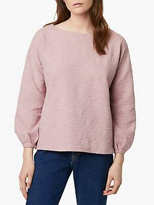 French Connection Sicily Textured Jumper, Cinder Pink