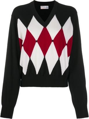 Ballantyne Argyle-detail jumper