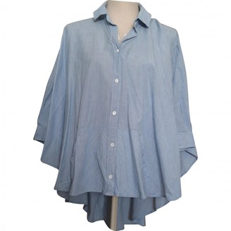 Bruuns Bazaar Blue Cotton Top for Women