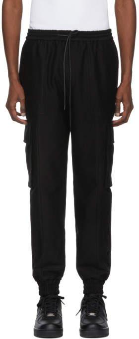 Juun.J Black Cargo Trousers