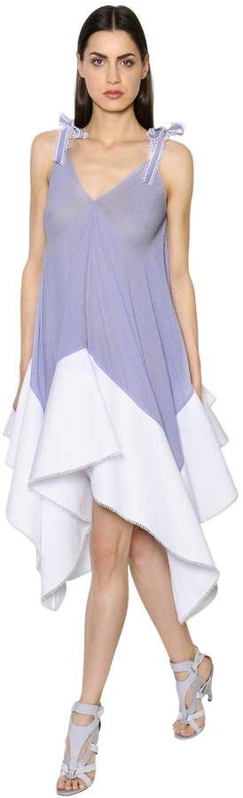 Antonio Berardi Striped Muslin & Cotton Poplin Dress